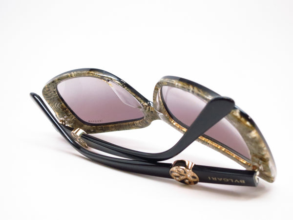 Bvlgari BV 8146B 5325/11 Top Black on Glitter Gold Sunglasses - Eye Heart Shades - Bvlgari - Sunglasses - 8
