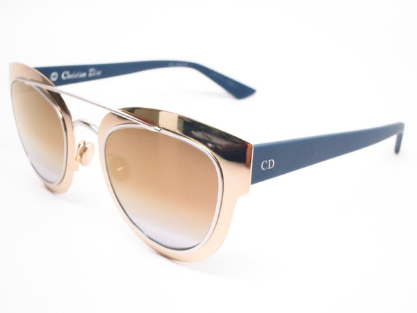 Dior Chromic LML9F Gold Palladium Blue Sunglasses - Eye Heart Shades - Dior - Sunglasses - 1