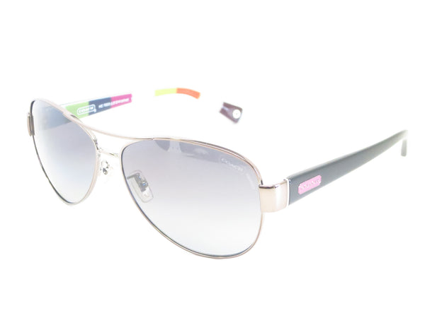 Coach HC 7003 Kristina 9010/T3 Dark Silver / Pink Polarized Sunglasses - Eye Heart Shades - Coach - Sunglasses - 1