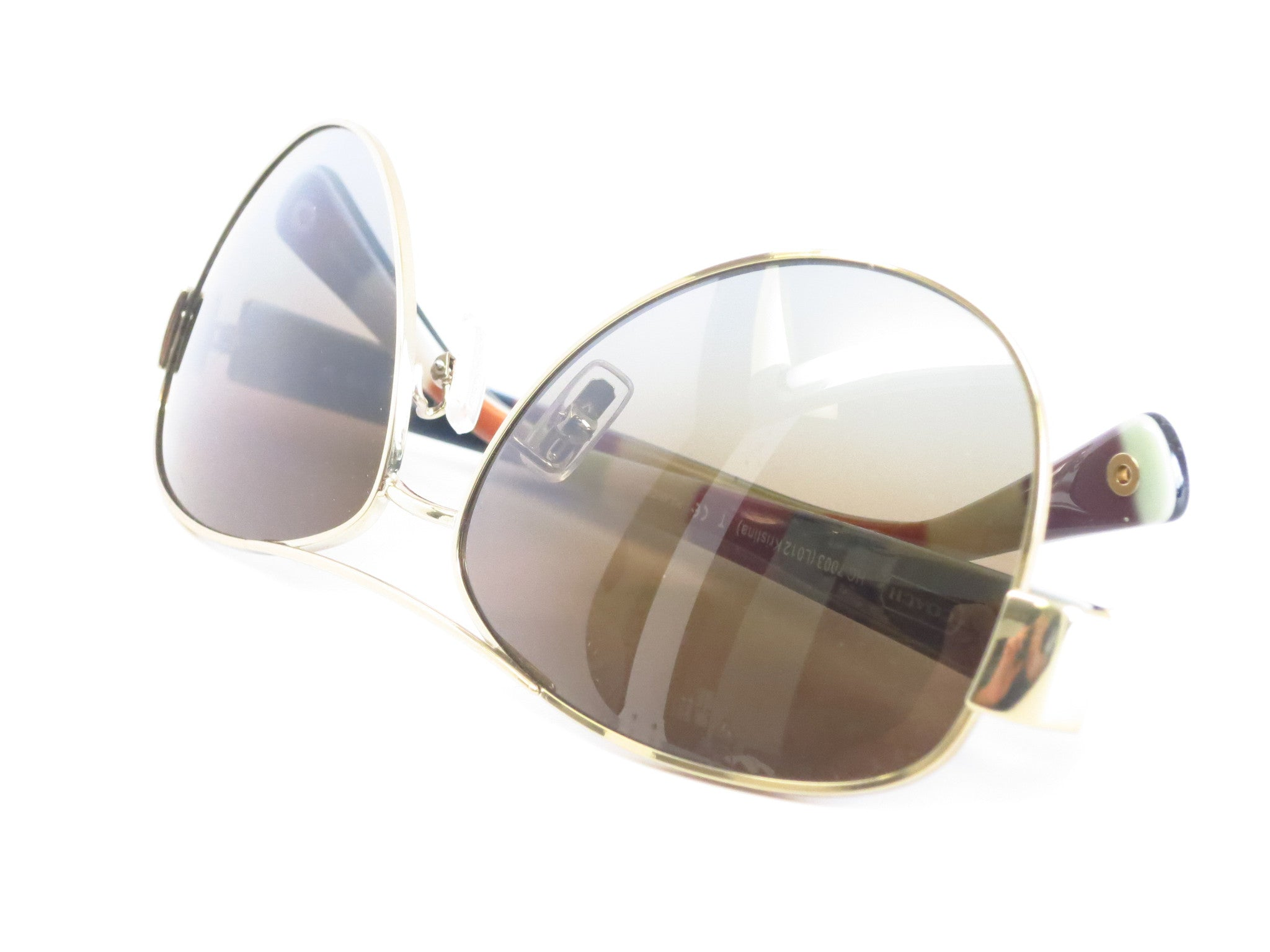 1750ead244 ... Coach HC 7003 Kristina 9013 T5 Gold   Brown Polarized Sunglasses - Eye  Heart Shades
