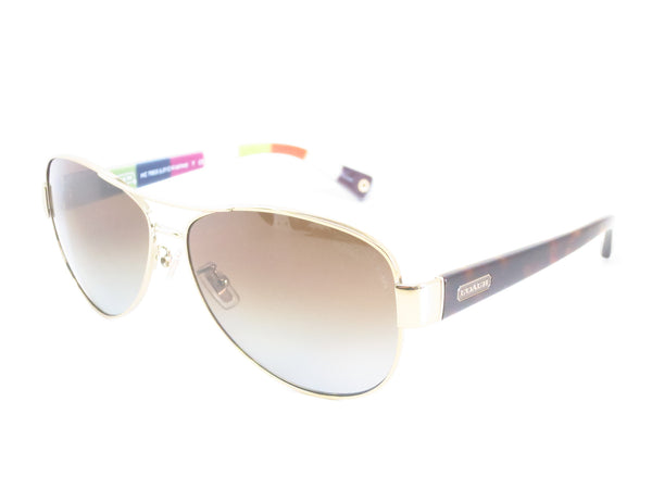 Coach HC 7003 Kristina 9013/T5 Gold / Brown Polarized Sunglasses - Eye Heart Shades - Coach - Sunglasses - 1