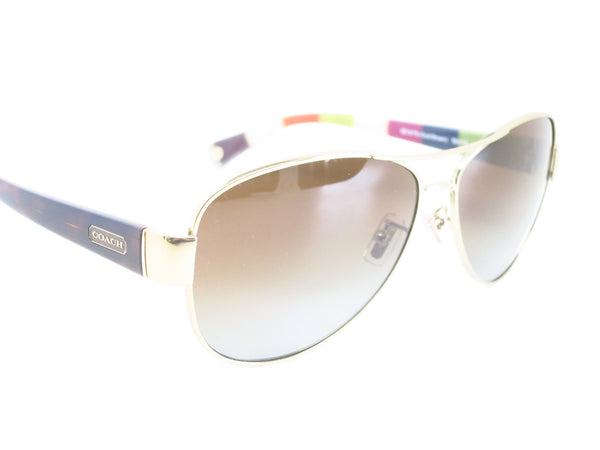 Coach HC 7003 Kristina 9013/T5 Gold / Brown Polarized Sunglasses - Eye Heart Shades - Coach - Sunglasses - 3