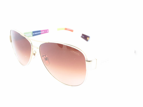 Coach HC 7003 Kristina 9051/13 Gold / White Sunglasses - Eye Heart Shades - Coach - Sunglasses - 1