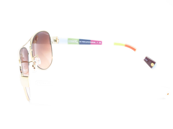 Coach HC 7003 Kristina 9051/13 Gold / White Sunglasses - Eye Heart Shades - Coach - Sunglasses - 5