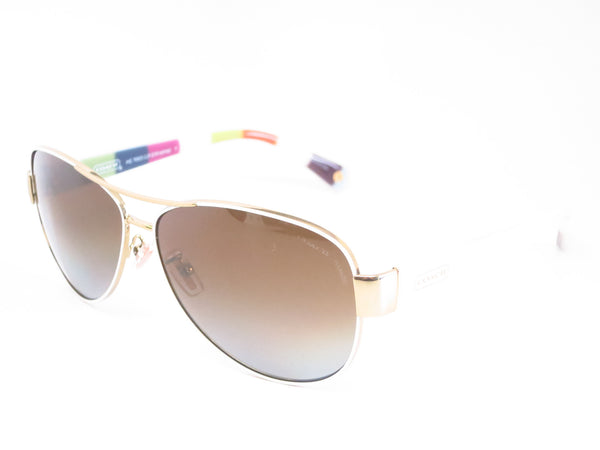 Coach HC 7003 Kristina 9051/T5 Gold / White Polarized Sunglasses - Eye Heart Shades - Coach - Sunglasses - 1