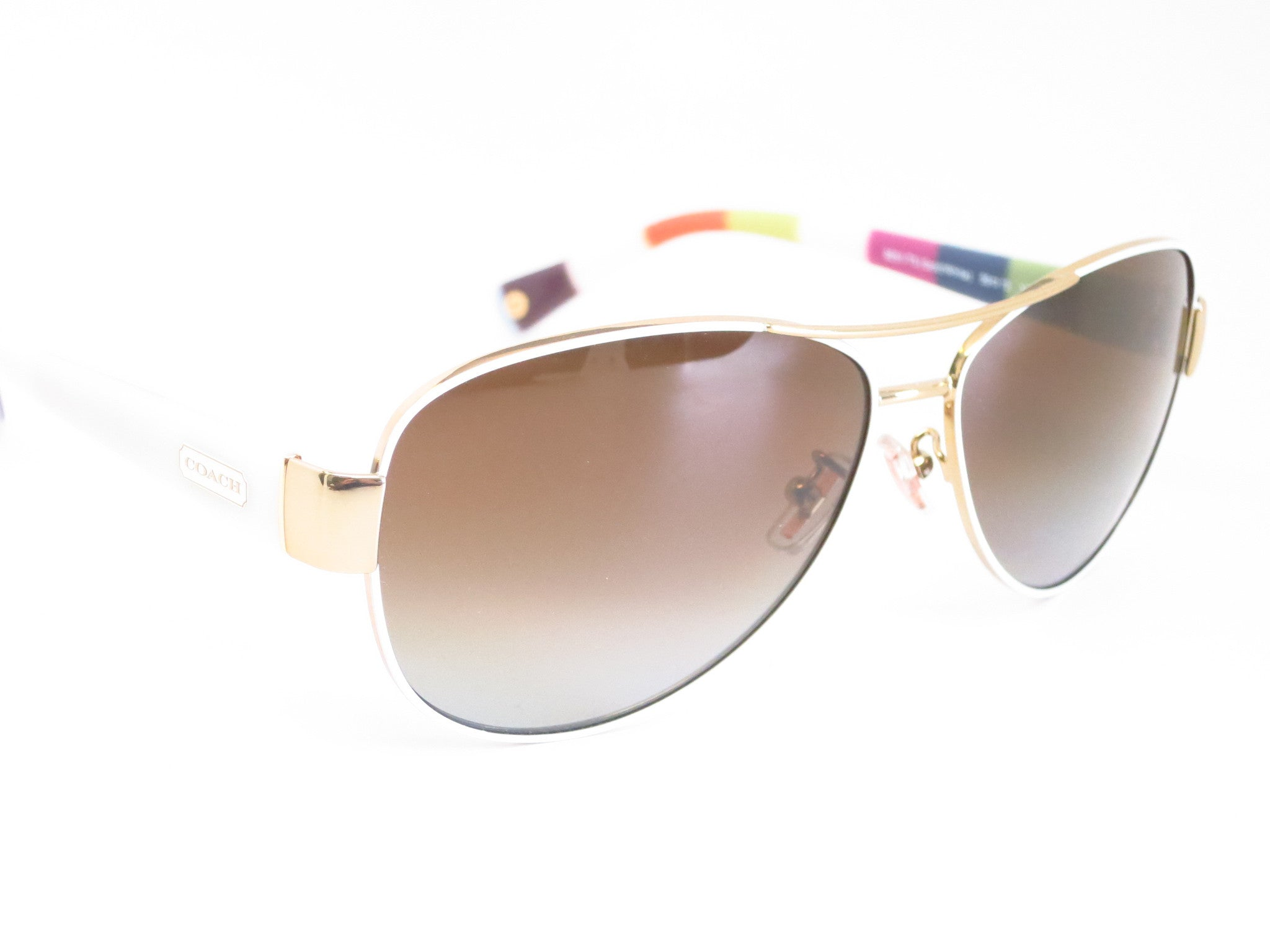 2329086066a ... Coach HC 7003 Kristina 9051 T5 Gold   White Polarized Sunglasses - Eye  Heart Shades ...