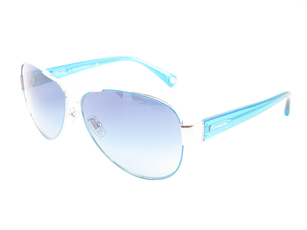 Coach HC 7003 Kristina 9124/4S Silver / Turquoise Sunglasses - Eye Heart Shades - Coach - Sunglasses - 1