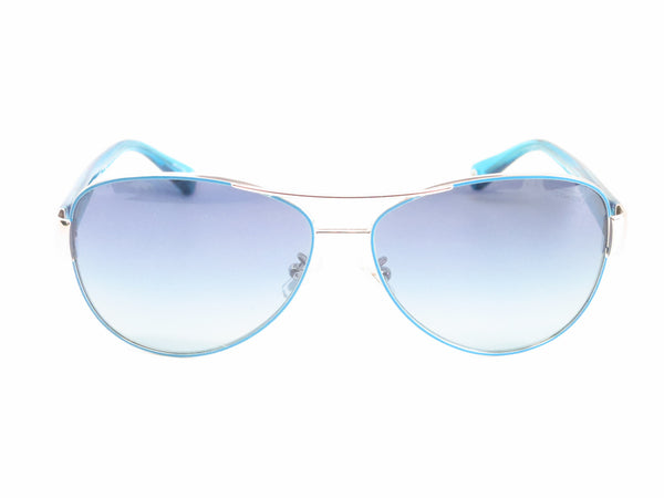Coach HC 7003 Kristina 9124/4S Silver / Turquoise Sunglasses - Eye Heart Shades - Coach - Sunglasses - 2