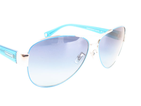 Coach HC 7003 Kristina 9124/4S Silver / Turquoise Sunglasses - Eye Heart Shades - Coach - Sunglasses - 3