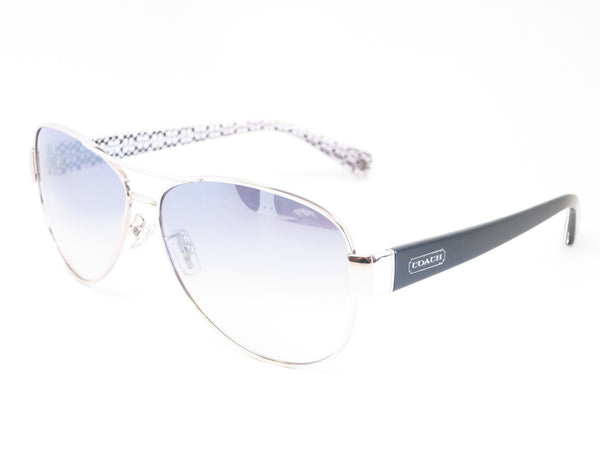 Coach HC 7003 Kristina 9175/7B Silver / Black White Signature C Sunglasses - Eye Heart Shades - Coach - Sunglasses - 1