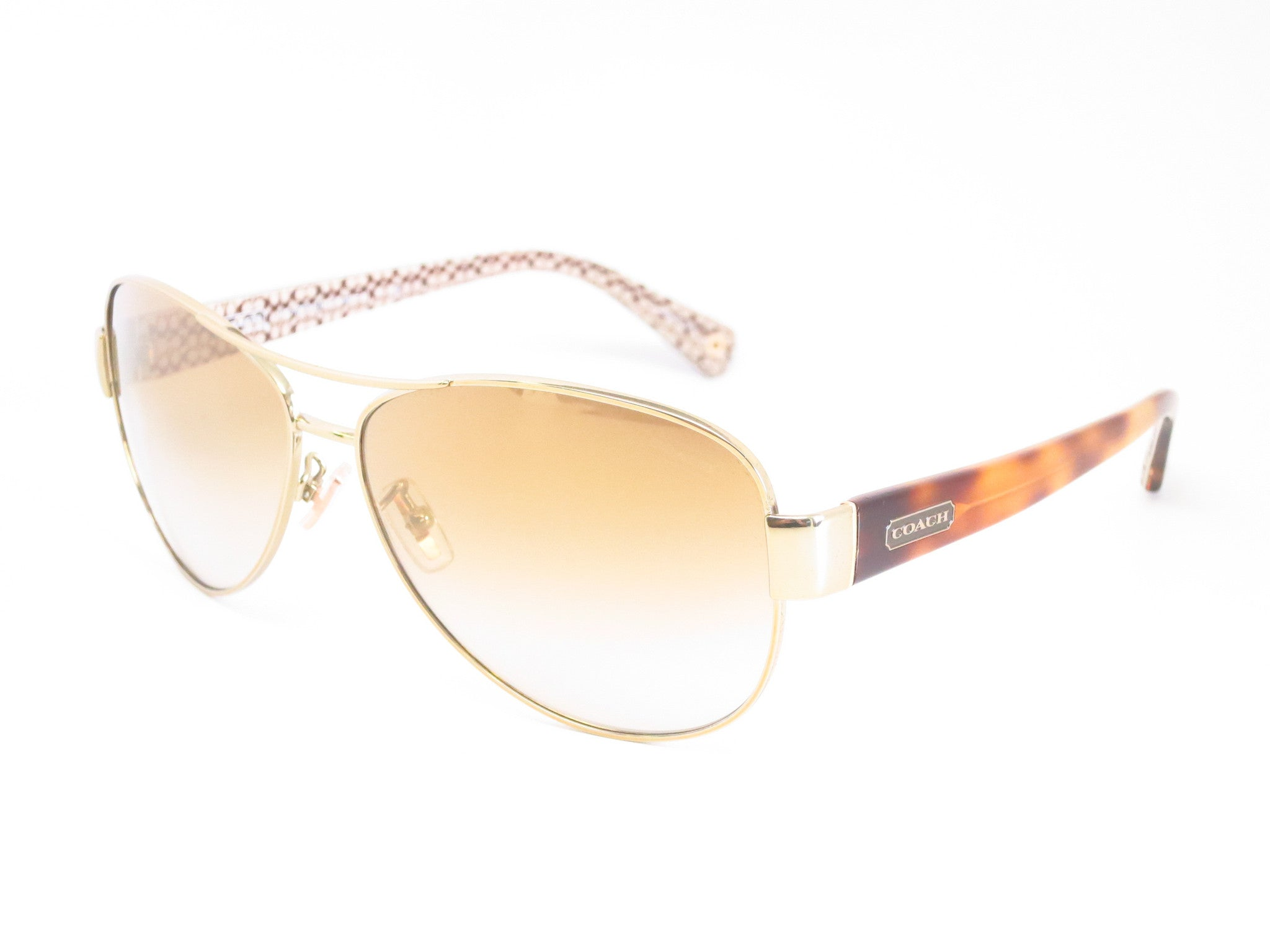 71713ec8c5 ... new style coach hc 7003 kristina 9176 6e gold tortoise sand signature c  sunglasses eye e1578