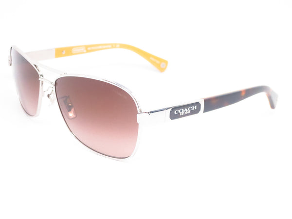 Coach HC 7012 Caroline 9101/13 Silver/Dark Tortoise Sunglasses - Eye Heart Shades - Coach - Sunglasses - 1