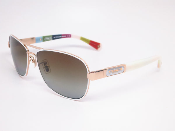Coach HC 7012 Caroline 9168/T5 Gold/White Legacy Stripe Polarized Sunglasses - Eye Heart Shades - Coach - Sunglasses - 1