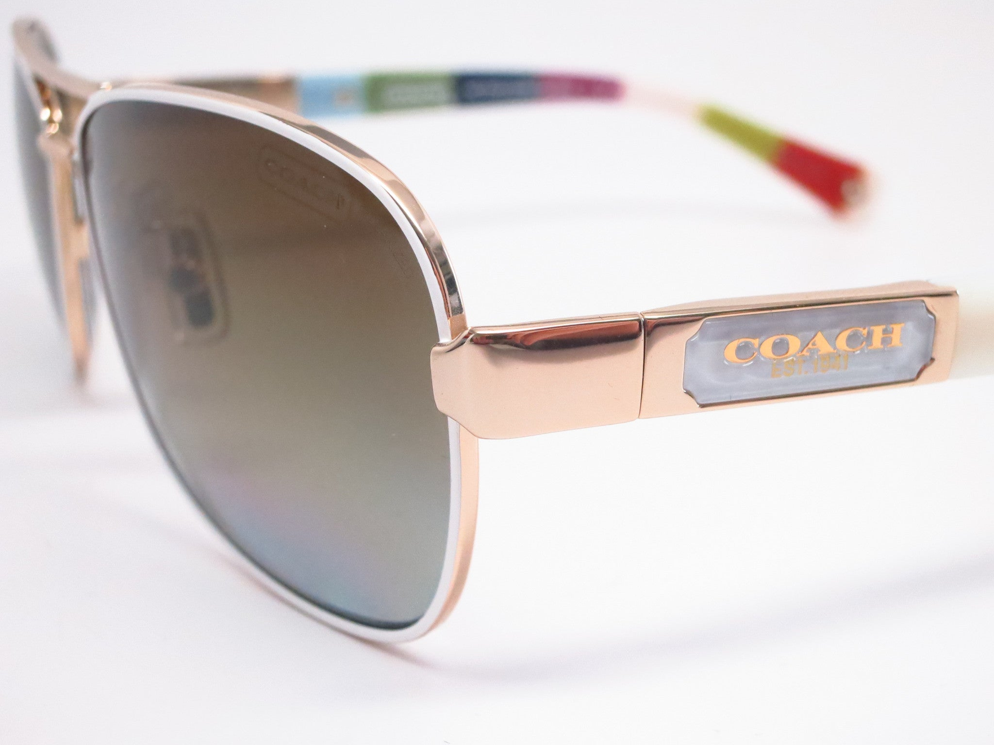 e0ff1f69620a4 ... sweden coach hc 7012 caroline 9168 t5 gold white legacy stripe  polarized sunglasses eye 92b3b 9a47e