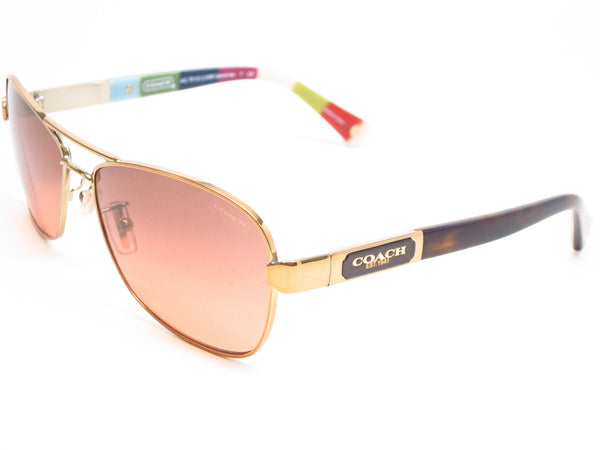Coach HC 7012 Caroline 9169/95 Gold / Dark Tortoise Sunglasses - Eye Heart Shades - Coach - Sunglasses - 1