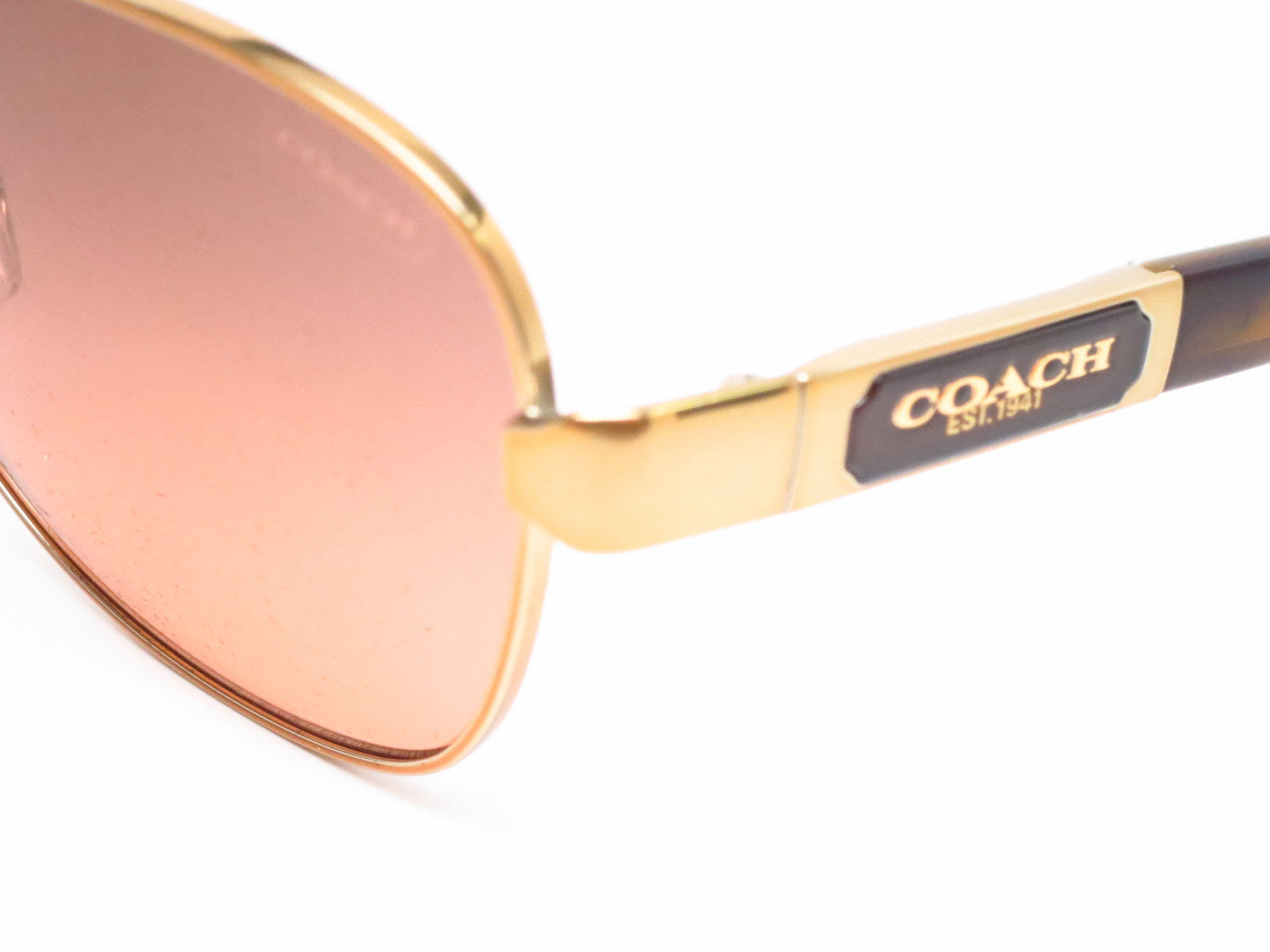 dbd8ec9cce17c ... uk coach hc 7012 caroline 9169 95 gold dark tortoise sunglasses eye  heart shades b1da0 90c0c