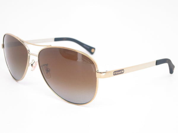 Coach HC 7025 Stephanie 9013/T5 Gold Sunglasses - Eye Heart Shades - Coach - Sunglasses - 1