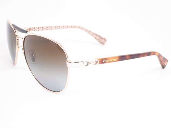 Coach HC 7041 Alton 9176/T5 Gold Tortoise Sand Signature Sunglasses - Eye Heart Shades - Coach - Sunglasses - 1