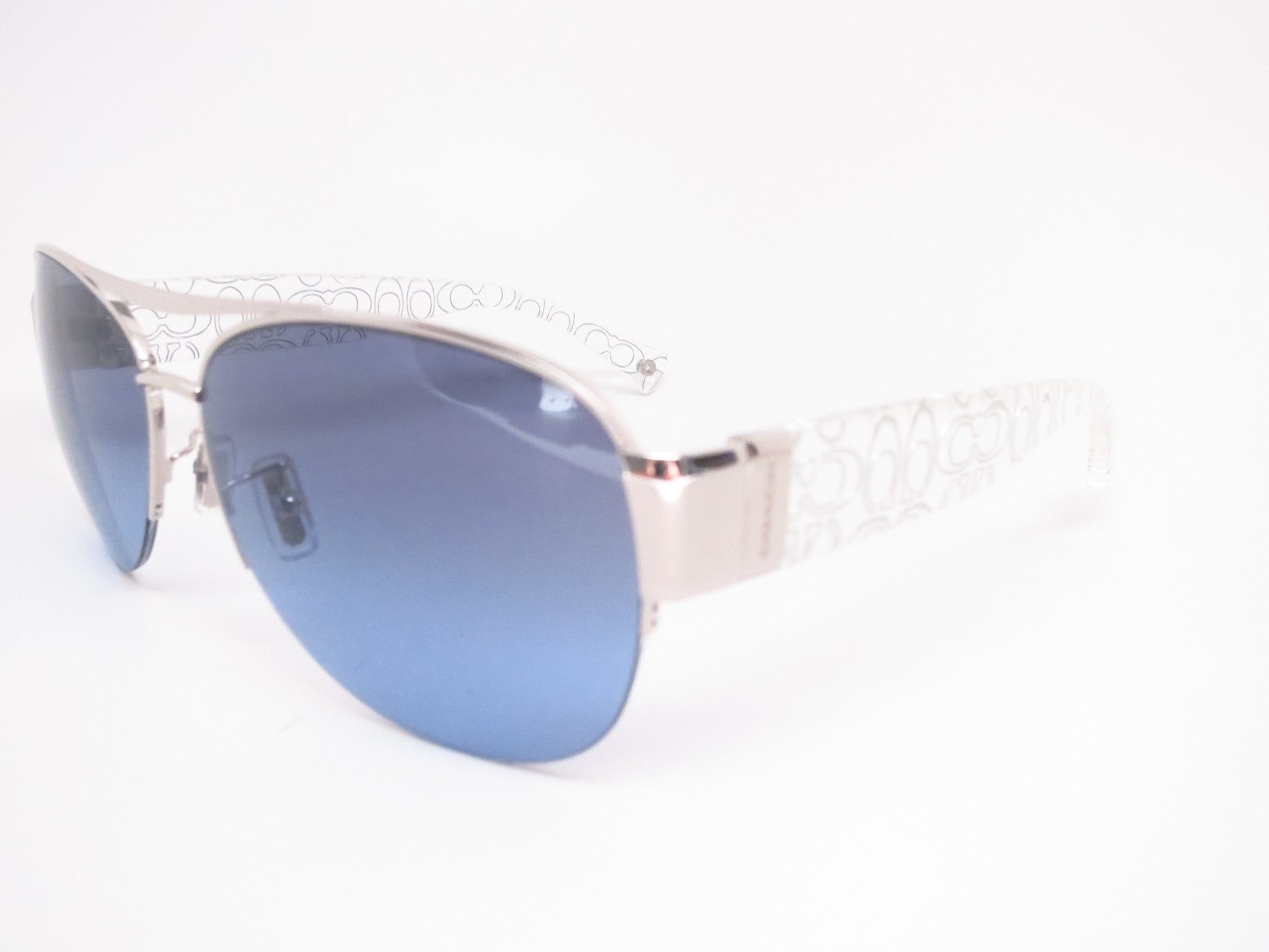 95f4fdc7d5 ... official store coach hc 7042 addison 9177 17 silver crystal silver  sunglasses eye heart shades b549d
