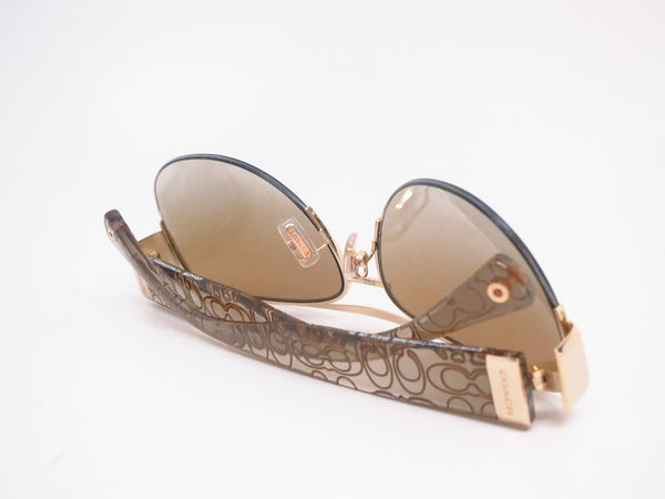 Coach HC 7042 Addison 9180/6E Gold/Khaki Crystal Gold Sunglasses - Eye Heart Shades - Coach - Sunglasses - 8