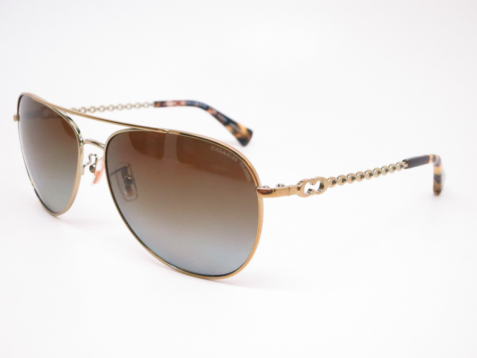81d653cf16 Coach HC 7045 9190 T5 Bree Gold Dark Vintage Tortoise Polarized Sunglasses  - Eye