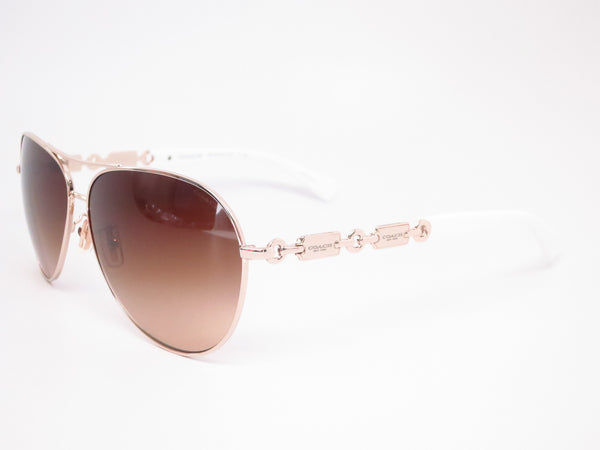 Coach HC 7048 9208/13 Light Gold / White Sunglasses - Eye Heart Shades - Coach - Sunglasses - 1