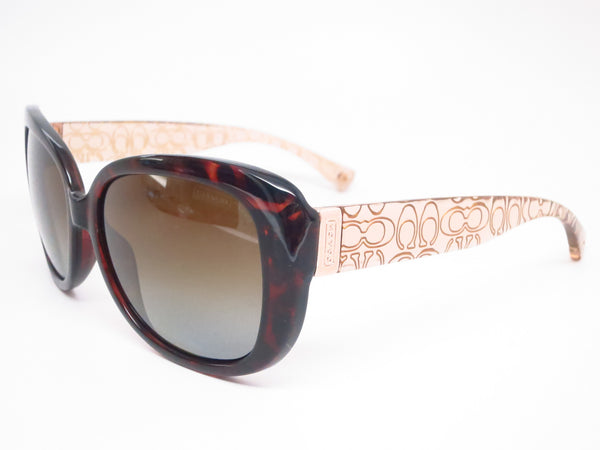 Coach HC 8076 Laurin 5152/T5 Dark Tortoise / Brown Crystal Polarized Sunglasses - Eye Heart Shades - Coach - Sunglasses - 1