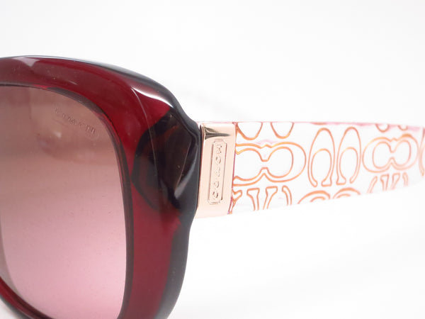Coach HC 8076 Laurin 5154/14 Burgundy / Pink Crystal Sunglasses - Eye Heart Shades - Coach - Sunglasses - 3