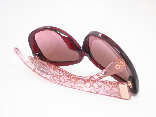 Coach HC 8076 Laurin 5154/14 Burgundy / Pink Crystal Sunglasses - Eye Heart Shades - Coach - Sunglasses - 8