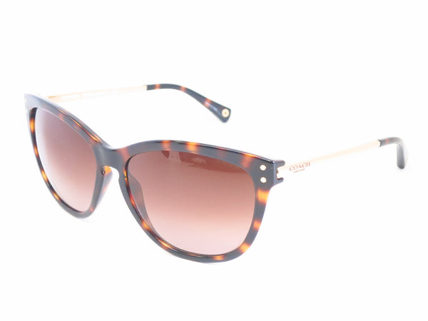 Coach HC 8084 Celia 5170/13 Dark Tortoise / Gold Sunglasses - Eye Heart Shades - Coach - Sunglasses - 1
