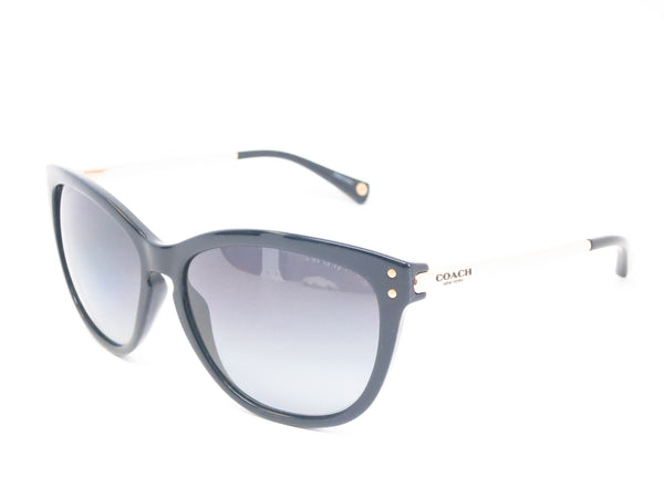 Coach HC 8084 Celia 5180/T3 Black / Gold Polarized Sunglasses - Eye Heart Shades - Coach - Sunglasses - 1