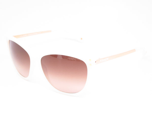 Coach HC 8084 Celia 5181/13 Milky White / Gold Sunglasses - Eye Heart Shades - Coach - Sunglasses - 1