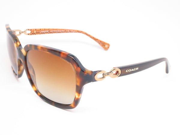 Coach HC 8104 Ashley 5230/T5 Spotty Tortoise / Brown Gold Signature Polarized Sunglasses - Eye Heart Shades - Coach - Sunglasses - 1