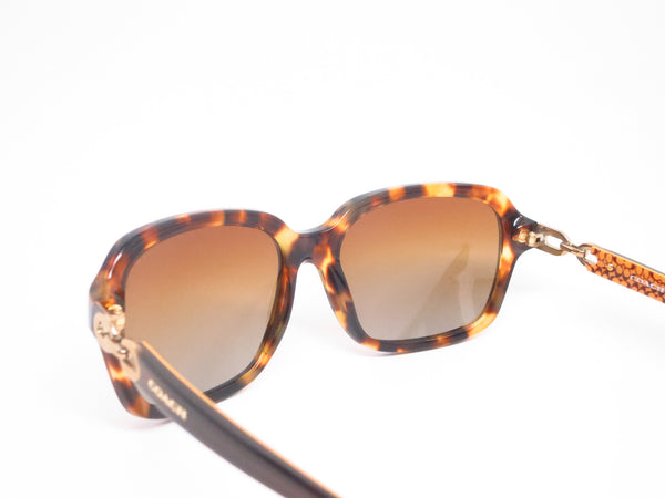 Coach HC 8104 Ashley 5230/T5 Spotty Tortoise / Brown Gold Signature Polarized Sunglasses - Eye Heart Shades - Coach - Sunglasses - 6