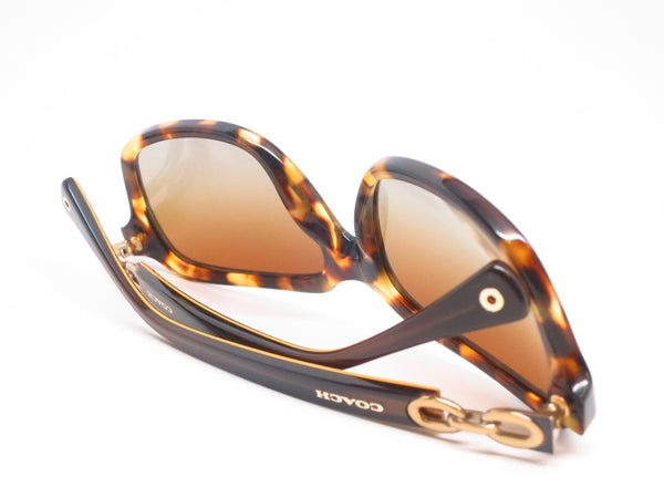 Coach HC 8104 Ashley 5230/T5 Spotty Tortoise / Brown Gold Signature Polarized Sunglasses - Eye Heart Shades - Coach - Sunglasses - 8