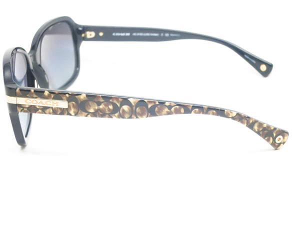 Coach HC 8105 Amber 5226/T3 Black / Beige Ocelot Signature Polarized Sunglasses - Eye Heart Shades - Coach - Sunglasses - 3