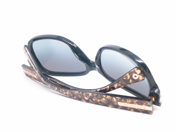 Coach HC 8105 Amber 5226/T3 Black / Beige Ocelot Signature Polarized Sunglasses - Eye Heart Shades - Coach - Sunglasses - 6