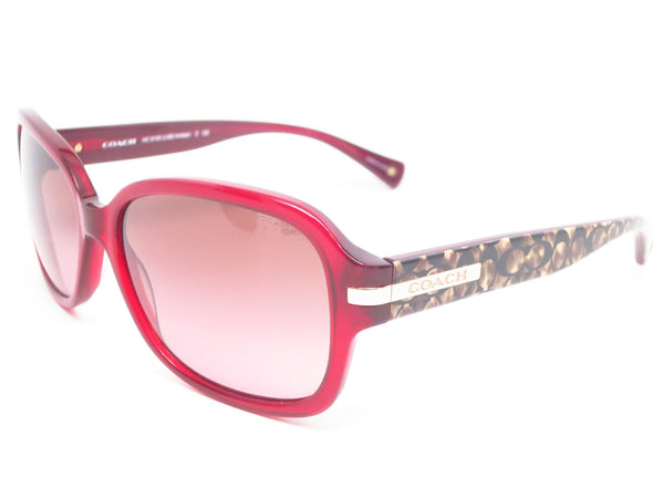Coach HC 8105 Amber 5236/14 Burgundy/Beige Ocelot Signature Sunglasses - Eye Heart Shades - Coach - Sunglasses - 1