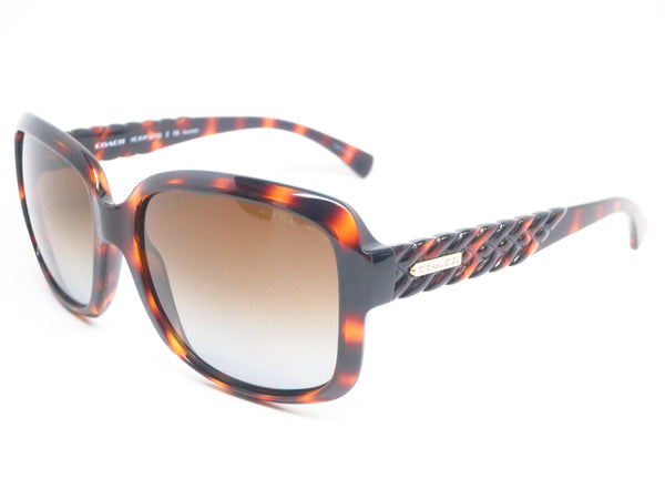 Coach HC 8141 5120/T5 Dark Tortoise Polarized Sunglasses - Eye Heart Shades - Coach - Sunglasses - 1