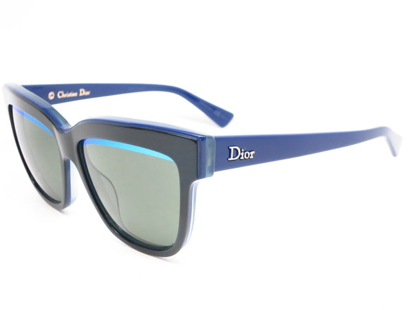 Dior Graphic 3883N Black Blue Green Sunglasses - Eye Heart Shades - Dior - Sunglasses - 1