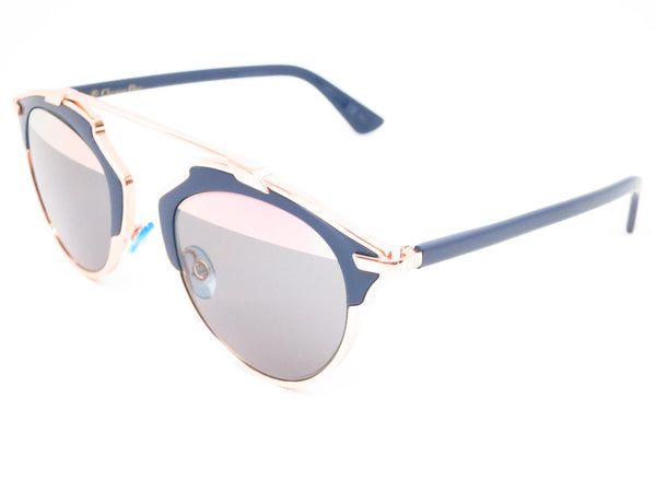 Dior So Real U5WZJ Blue with Rose Gold Sunglasses - Eye Heart Shades - Dior - Sunglasses - 1