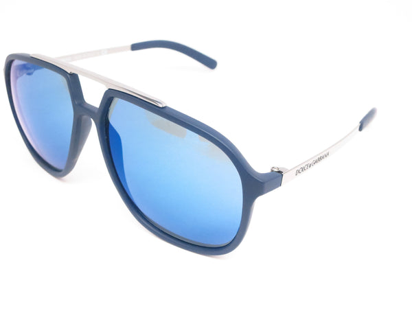 Dolce & Gabbana DG 6088 2650/55 Blue Rubber Sunglasses - Eye Heart Shades - Dolce & Gabbana - Sunglasses - 1