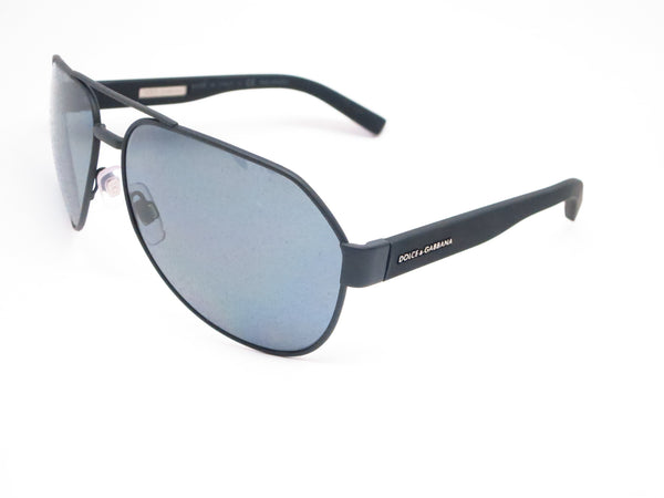 Dolce & Gabbana DG 2149 1260/81 Black Rubber Polarized Sunglasses - Eye Heart Shades - Dolce & Gabbana - Sunglasses - 1