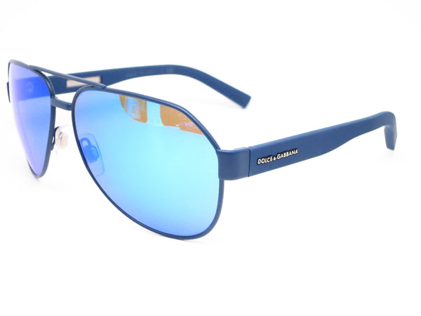 Dolce & Gabbana DG 2149 1273/25 Blue Rubber Sunglasses - Eye Heart Shades - Dolce & Gabbana - Sunglasses - 1
