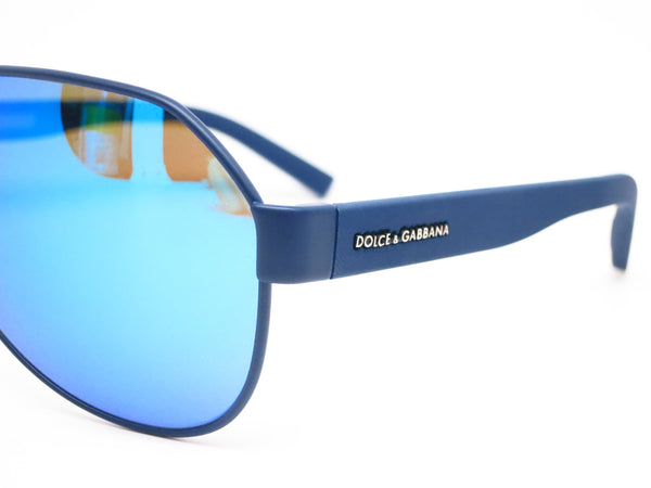 Dolce & Gabbana DG 2149 1273/25 Blue Rubber Sunglasses - Eye Heart Shades - Dolce & Gabbana - Sunglasses - 3