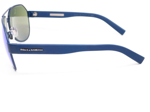 Dolce & Gabbana DG 2149 1273/25 Blue Rubber Sunglasses - Eye Heart Shades - Dolce & Gabbana - Sunglasses - 5