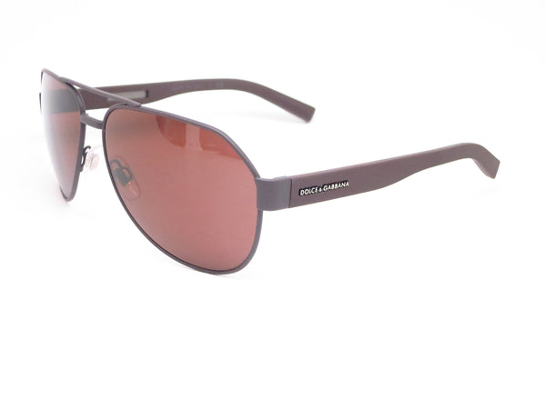Dolce & Gabbana DG 2149 1274/73 Brown Rubber Sunglasses - Eye Heart Shades - Dolce & Gabbana - Sunglasses - 1