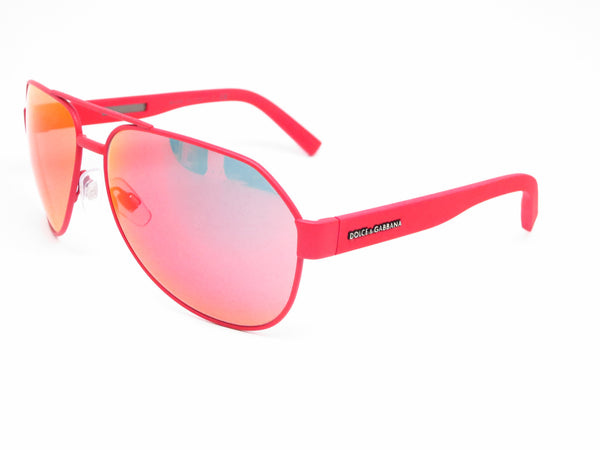 Dolce & Gabbana DG 2149 1281/6Q Red Rubber Sunglasses - Eye Heart Shades - Dolce & Gabbana - Sunglasses - 1