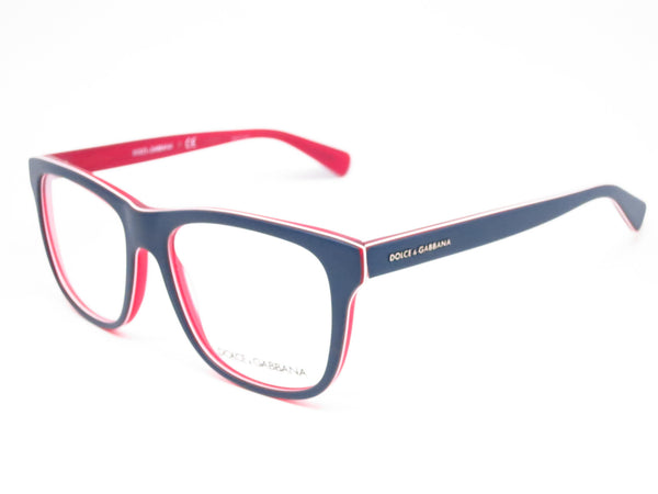 Dolce & Gabbana DG 3206 Top Blue on Matte Red Eyeglasses - Eye Heart Shades - Dolce & Gabbana - Eyeglasses - 1