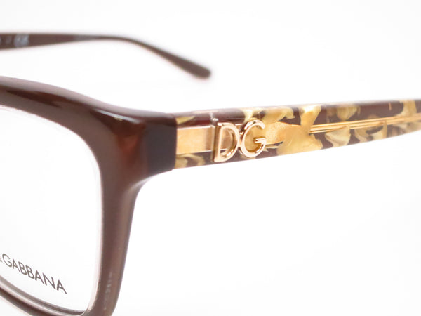 Dolce & Gabbana DG 3220 Crystal on Brown 2918 Eyeglasses - Eye Heart Shades - Dolce & Gabbana - Eyeglasses - 3
